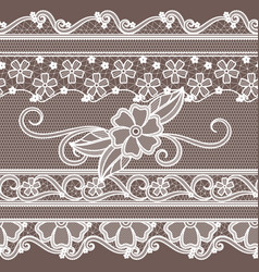 fabric lace with flowers decoration fashion vector image