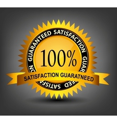 Fatisfaction guaranteed label vector image