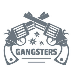 Gangsters logo vintage style vector