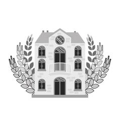 Grayscale beer canteen with wheat image design vector