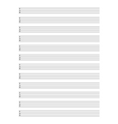 Guitar TAB Staff vector image