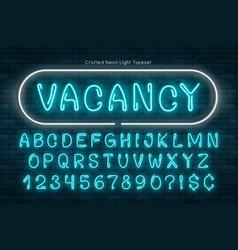 handmade neon light alphabet realistic extra vector image