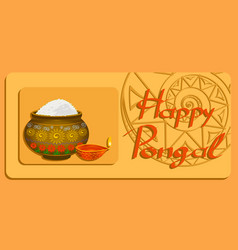 happy pongal harvest festival in india eps vector image