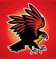 hawk bird mascot vector image
