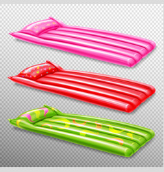 Inflatable swimming air mattresses vector
