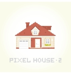 Isolated house in pixel art style 2 vector image