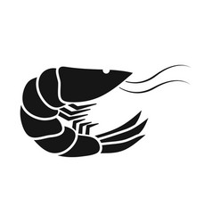 Isolated object prawn and creature icon vector