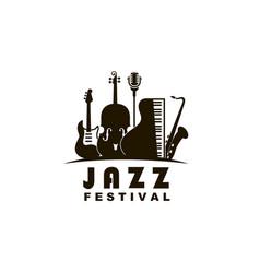 jazz festival emblem vector image