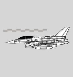 lockheed martin f-16i sufa vector image