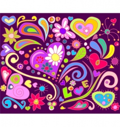 love doodle vector image