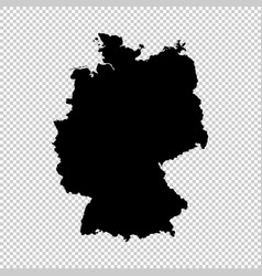 map germany isolated black vector image