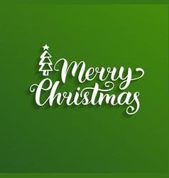 Merry christmas lettering nativity vector