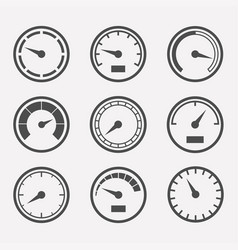 Meters set vector