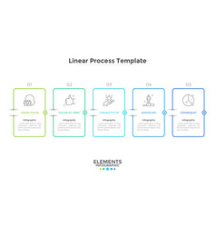 modern linear infographic template vector image