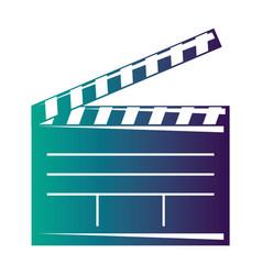 Movie clapper board open cinematography concept vector