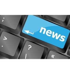 News text on a button keyboard keys Keyboard keys vector image