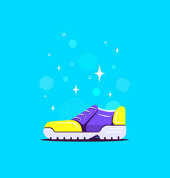 old school classic sneaker flat style design vector image