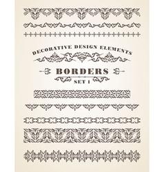 Ornaments Borders Decorative Design Elements vector image