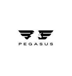pegasus unicorn horse wing logo icon vector image