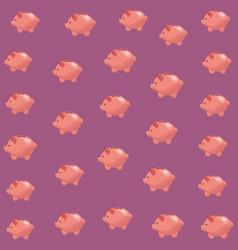piggy background cartoons vector image