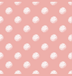 pink and white polka dot seamless pattern vector image