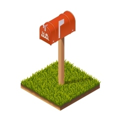 Postbox isometric vector
