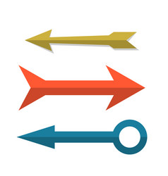 retro arrow cursors set in flat style vector image