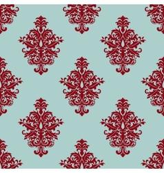 Retro maroon or crimson seamless pattern vector image