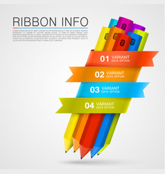 ribbon with a pencil list options vector image
