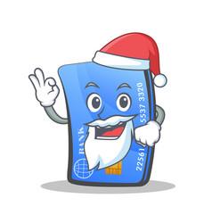 Santa credit card character cartoon vector