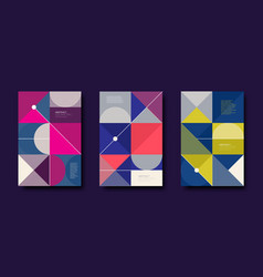Set abstract design background vector