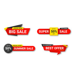 set sale tags sale discount and special offer vector image