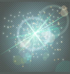 sparks glitter glowingstar burst particles glow vector image