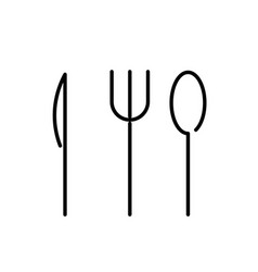spoon knife icon vector image