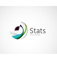 Statistics company logo design vector image