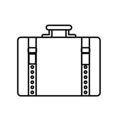 Suitcase baggage luggage travel icon vector