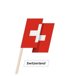 Switzeland Ribbon Waving Flag Isolated on White vector image