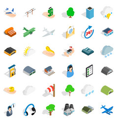 terminal icons set isometric style vector image