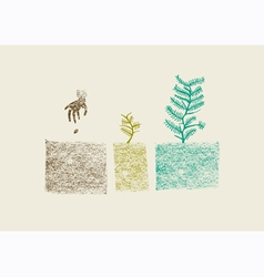 Tree growing process vector