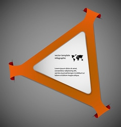 Triangle infographic template with orange color vector