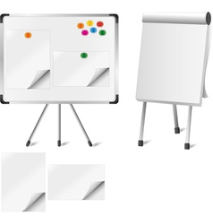 Two flipcharts vector