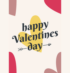 valentines day card valentine hearts sign vector image