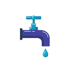 water tap icon in flat style vector image