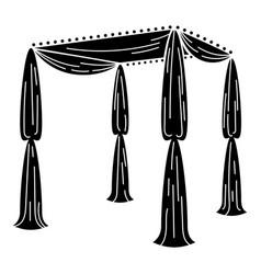 Wedding gazebo icon simple style vector