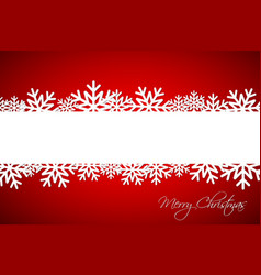 white christmas snowflake on red background vector image