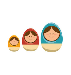 Wood eggs toy icon vector