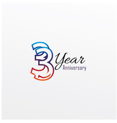 Years anniversary celebration blue colors comical vector