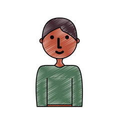 young man doodle vector image