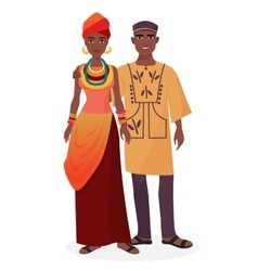African family African man and woman couple in vector image vector image
