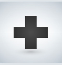 cross medicical or christian logo concept vector image